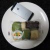 ファミマ・サークルKのコンビニパン「よもぎ求肥と小豆を包んだよもぎと小豆のちぎれるぱん」