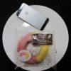 ファミマ・サークルKのコンビニパン「2色の生地を使ったいちごとカスタードのリングパン」